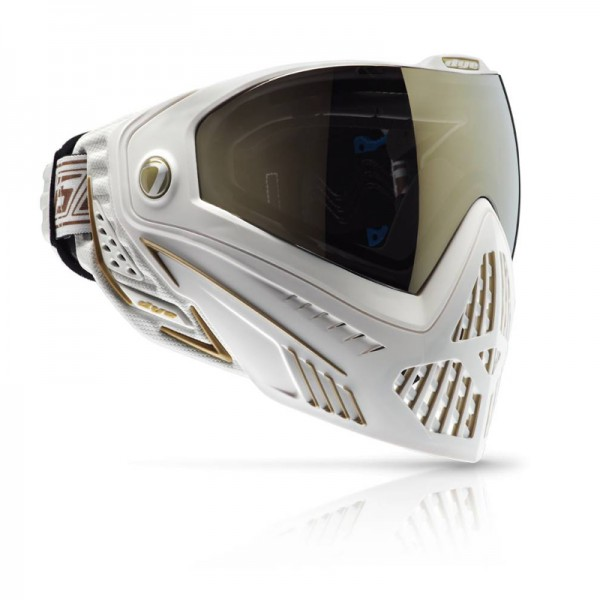 Dye I5 WHITE/GOLD Thermal Paintball Maske