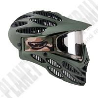 JT Flex8 Spectra oliv Full Head Thermal Paintball Maske
