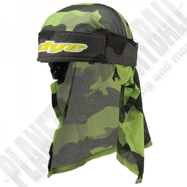 Dye Paintball Head Wrap Bomber grey/lime