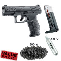 Walther PPQ M2 T4E Cal.43 inkl. Extra Magazin, CO2 Kapseln und 50 Rubberballs