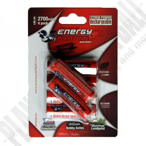Akku AA 2700mAh 6er Pack Energy Paintball