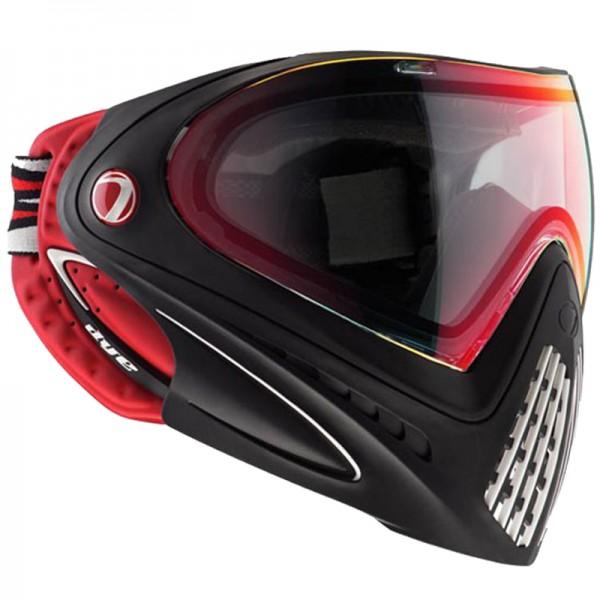 Paintball Maske DYE I4 Thermal Dirty Bird red/black