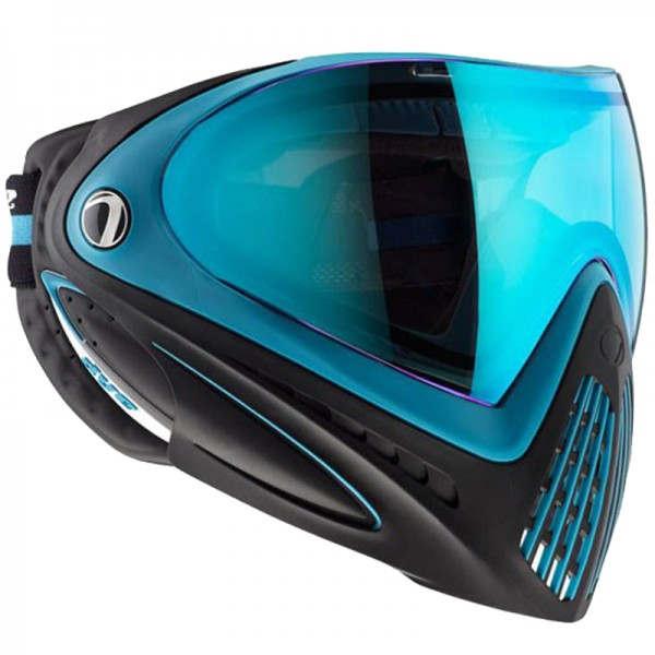 Paintball Maske DYE I4 Thermal Powder Blue black/blue