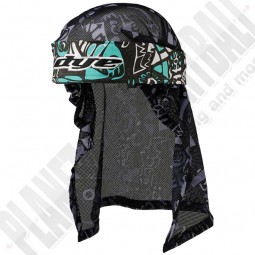 Dye Paintball Head Wrap Eskimo teal/grey/black